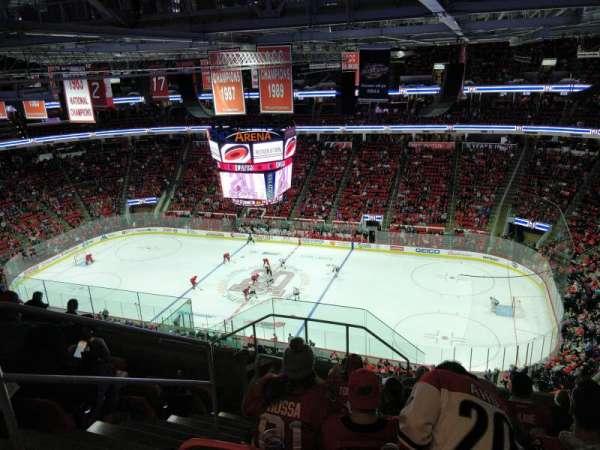 PNC Arena, secção: 322, fila: J, lugar: 14