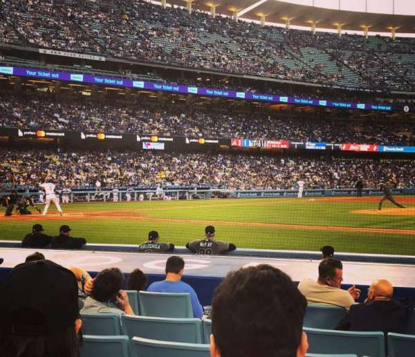 Dodger Stadium, secção: Field Box MVP 20, fila: C