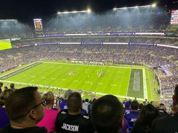 M&T Bank Stadium, secção: 523, fila: 19, lugar: 5