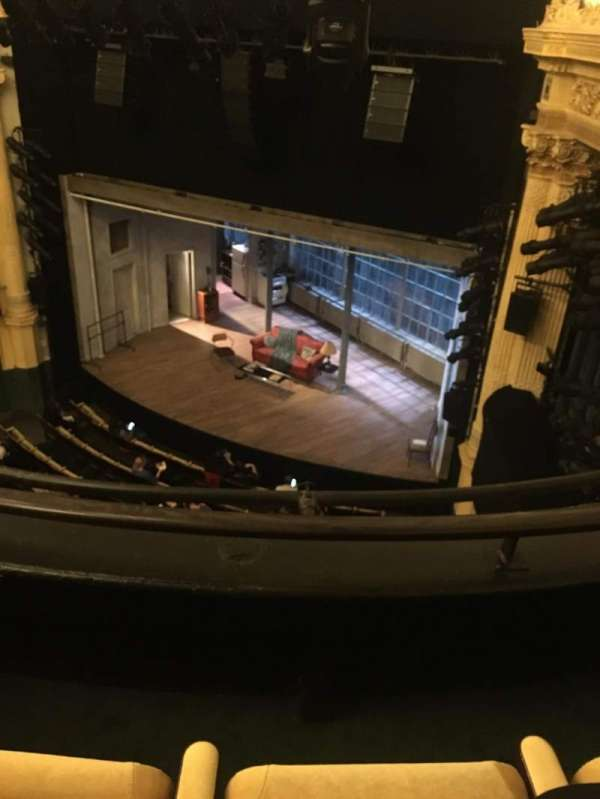 Hudson Theatre, secção: Balcony R, fila: B, lugar: 10