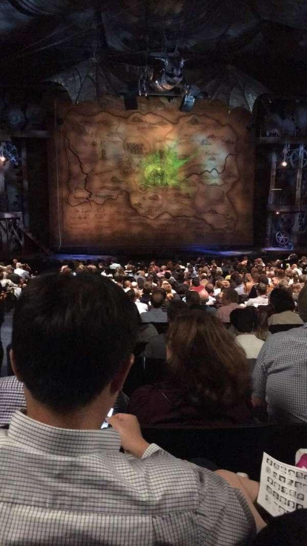 Gershwin Theatre, secção: Orchestra C, fila: U, lugar: 101