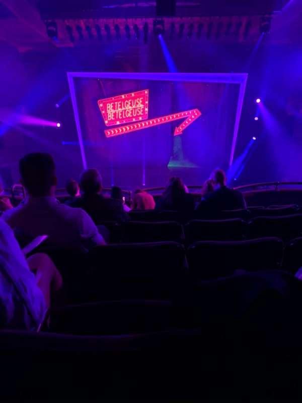 Winter Garden Theatre, secção: Mezzanine RC, fila: F, lugar: 112
