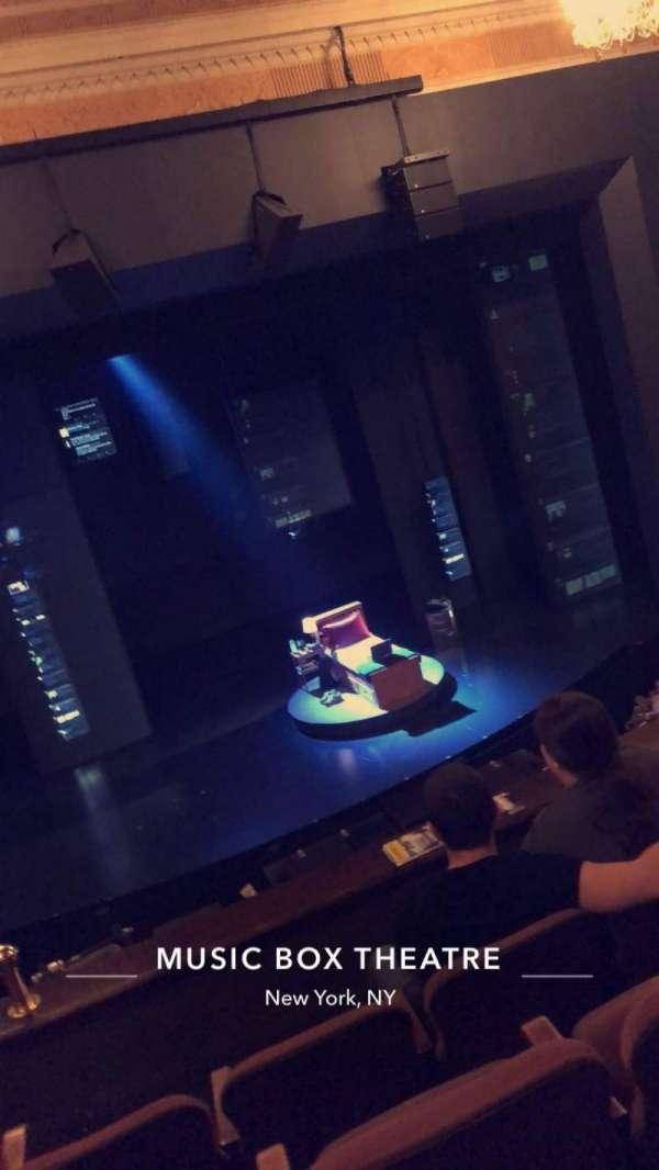 Music Box Theatre, secção: Mezzanine C, fila: D, lugar: 114
