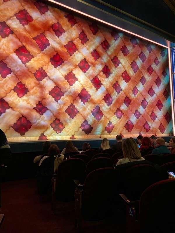 Brooks Atkinson Theatre, secção: Orchestra L, fila: E, lugar: 1