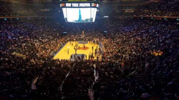Madison Square Garden, secção: 204LWC, fila: 1, lugar: 32