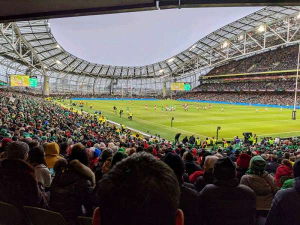 Aviva Stadium, secção: 119, fila: CC, lugar: 18