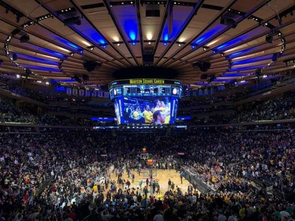 Madison Square Garden, secção: 112, fila: 19, lugar: 10