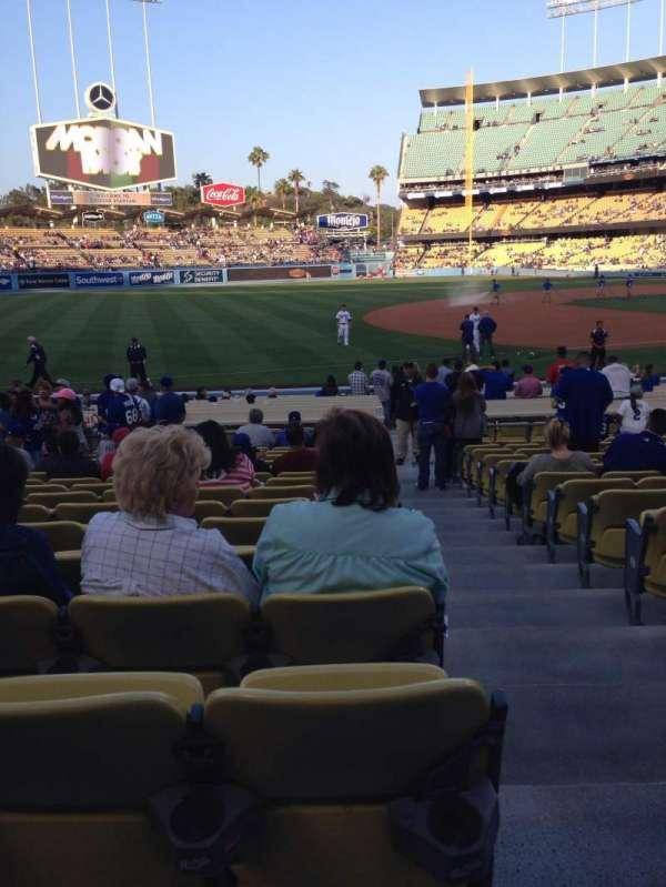 Dodger Stadium, secção: 33FD, fila: P, lugar: 1