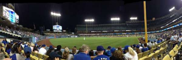 Dodger Stadium, secção: 51fd, fila: E, lugar: 8