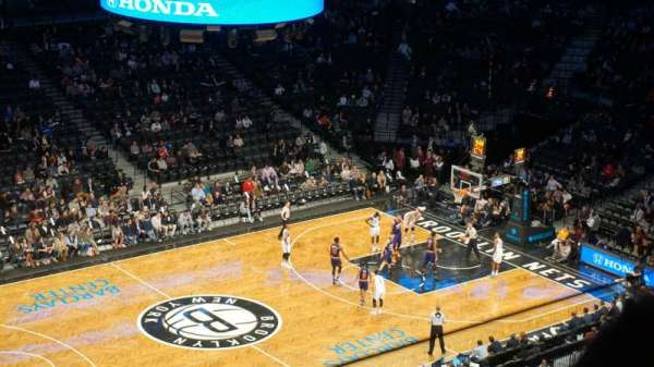 Barclays Center, secção: 210, fila: 2, lugar: 26