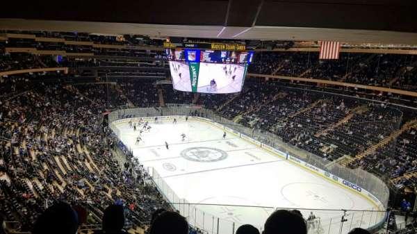 Madison Square Garden , secção: 414, fila: 4, lugar: 14