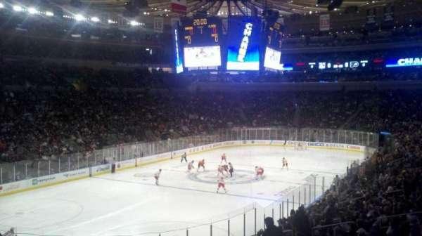 Madison Square Garden, secção: 104, fila: 21, lugar: 1