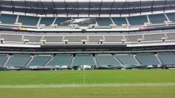 Lincoln Financial Field, secção: Sideline, fila: 50 yard li, lugar: Player Bench