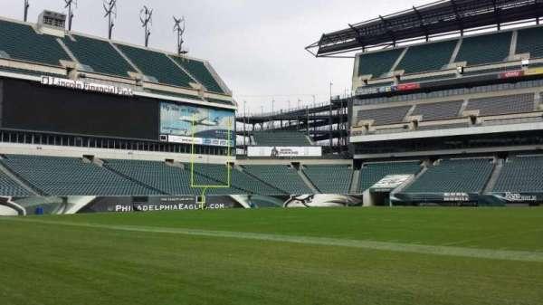 Lincoln Financial Field, secção: Sideline, fila: Field, lugar: Player Bench