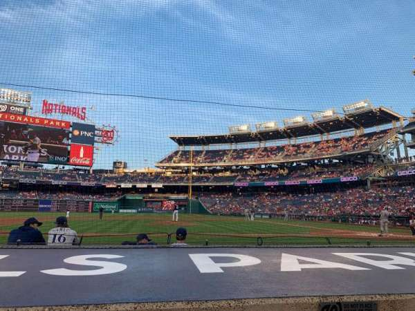 Nationals Park, secção: 119, fila: E, lugar: 18