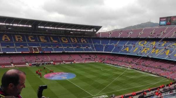 Camp Nou, secção: 332, fila: 25, lugar: 02