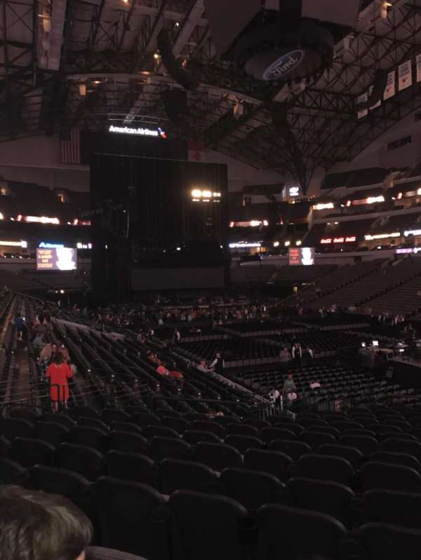 American Airlines Center, secção: 115, fila: T, lugar: 4