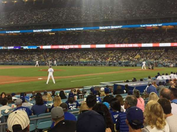 Dodger Stadium, secção: 31FD, fila: G, lugar: 3