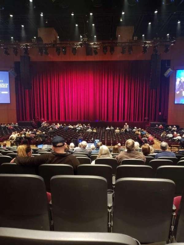 The Theater at MGM National Harbor, secção: 103, fila: P, lugar: 6