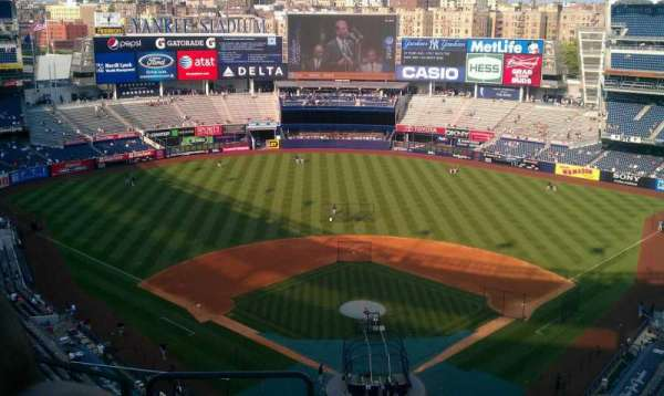 Yankee Stadium, secção: 420b, fila: 9