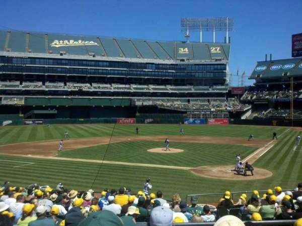 Oakland Coliseum, secção: 119R, fila: 25, lugar: 6