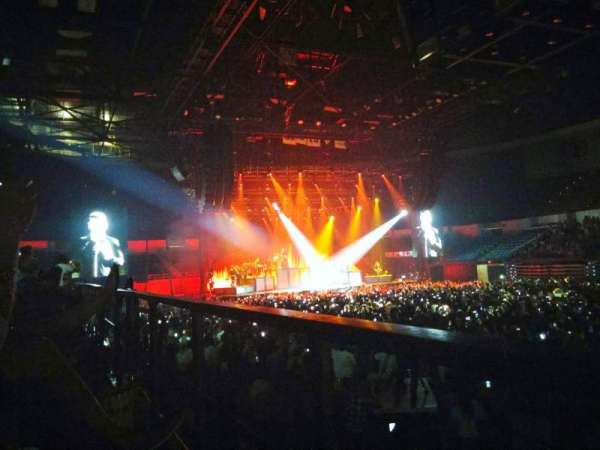 Pechanga Arena, secção: L23, fila: 1, lugar: 6