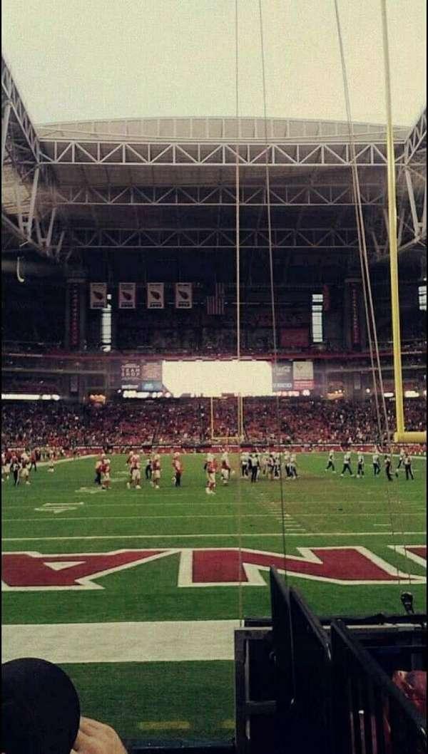 State Farm Stadium, secção: 142, fila: 5, lugar: 3-4