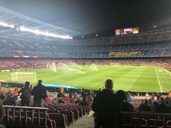 Camp Nou, secção: 123, fila: 17, lugar: 2