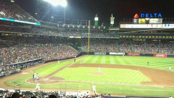Turner Field, secção: 207, fila: 9, lugar: 12