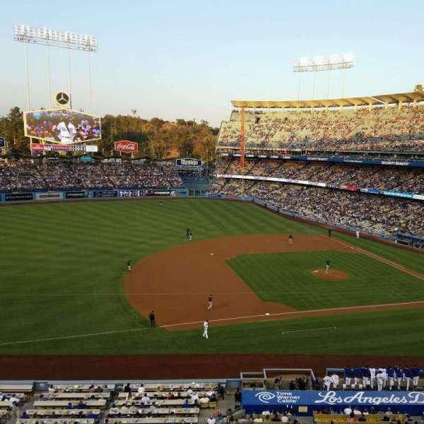 Dodger Stadium, secção: 23RS, fila: A, lugar: 11