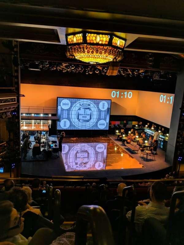 Belasco Theatre, secção: Mezzanine L, fila: f, lugar: 1