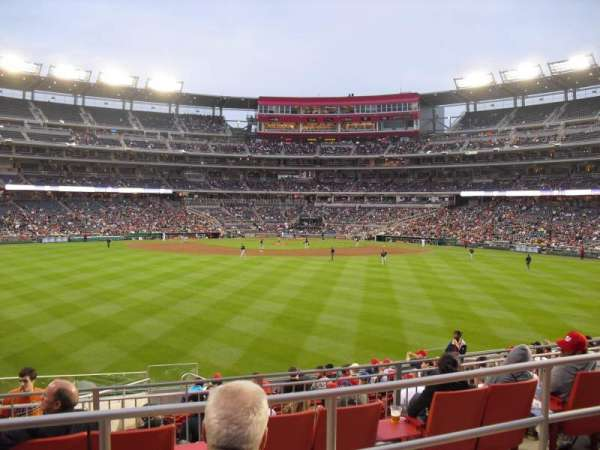 Nationals Park, secção: 100, fila: M, lugar: 27