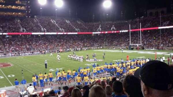 Stanford Stadium, secção: 133, fila: P, lugar: 12