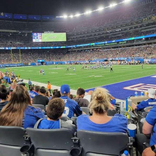 MetLife Stadium, secção: 108, fila: 8, lugar: 1