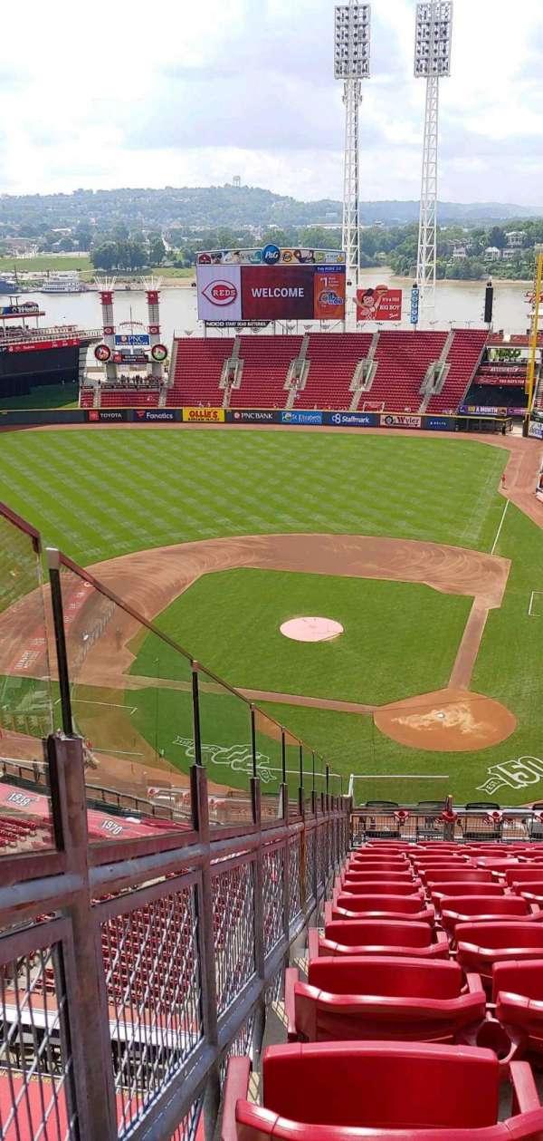 Great American Ball Park, secção: 520, fila: M, lugar: 10