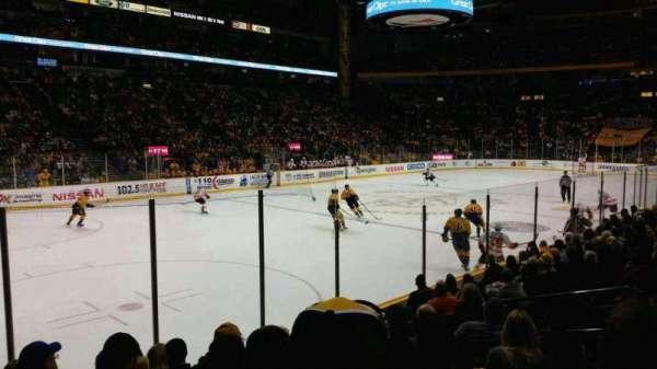 Bridgestone Arena, secção: 103, fila: kk, lugar: 8
