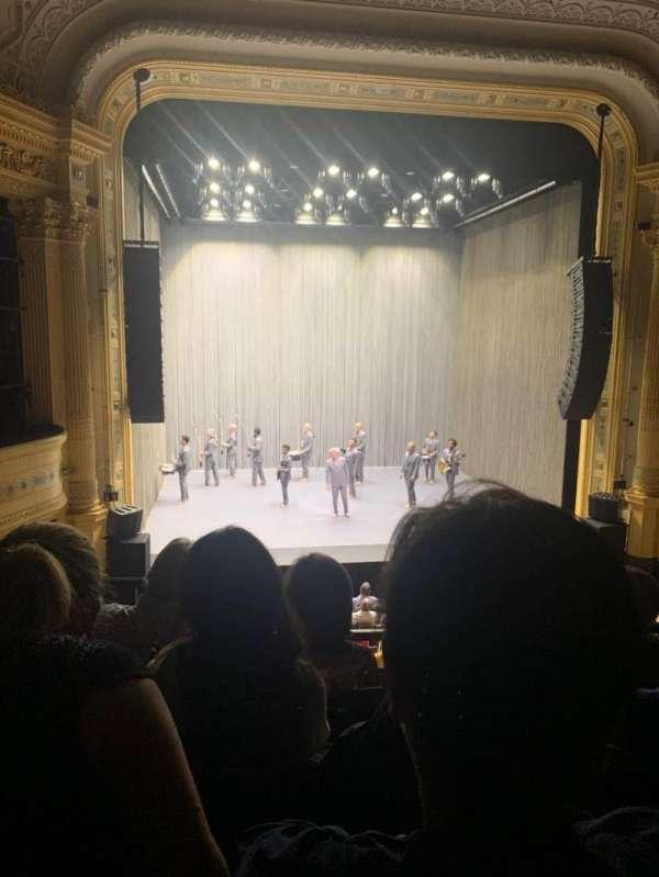 Hudson Theatre, secção: Dress Circle C, fila: D, lugar: 103