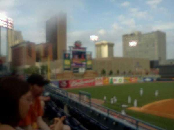 Fifth Third Field, secção: 210, fila: C, lugar: 14