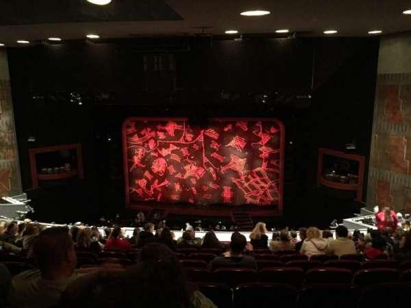 Minskoff Theatre, secção: Mezzanine, fila: L, lugar: 139