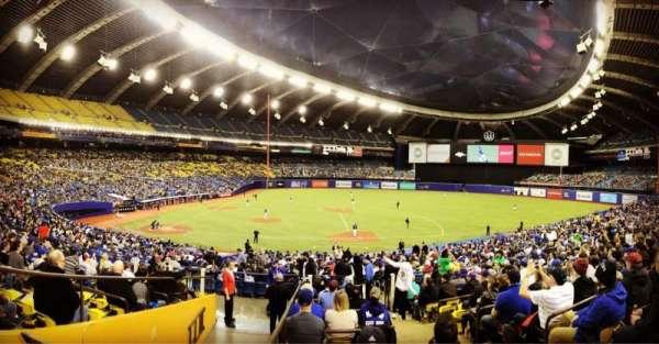 Olympic Stadium, Montreal, secção: 109, fila: M, lugar: 11