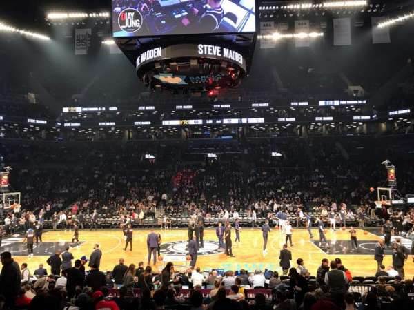 Barclays Center, secção: 8, fila: 13, lugar: 14