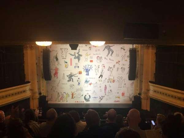 Hudson Theatre, secção: Dress Circle C, fila: G, lugar: 109