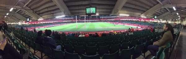 Principality Stadium, secção: L19, fila: 27, lugar: 11