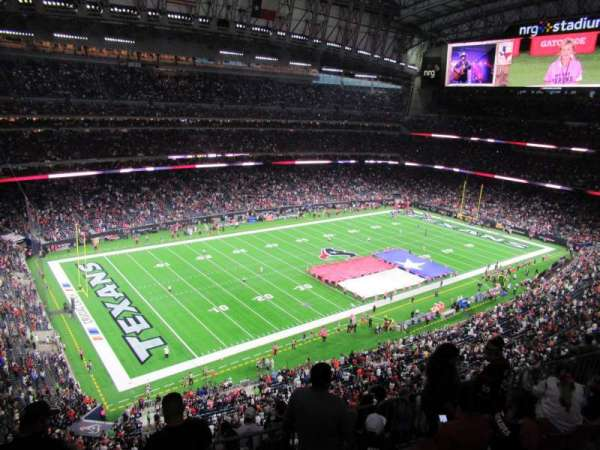 NRG Stadium, secção: 640, fila: A, lugar: 1