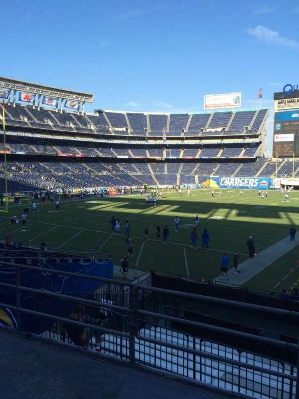 San Diego Stadium, secção: P25, fila: 3, lugar: 1