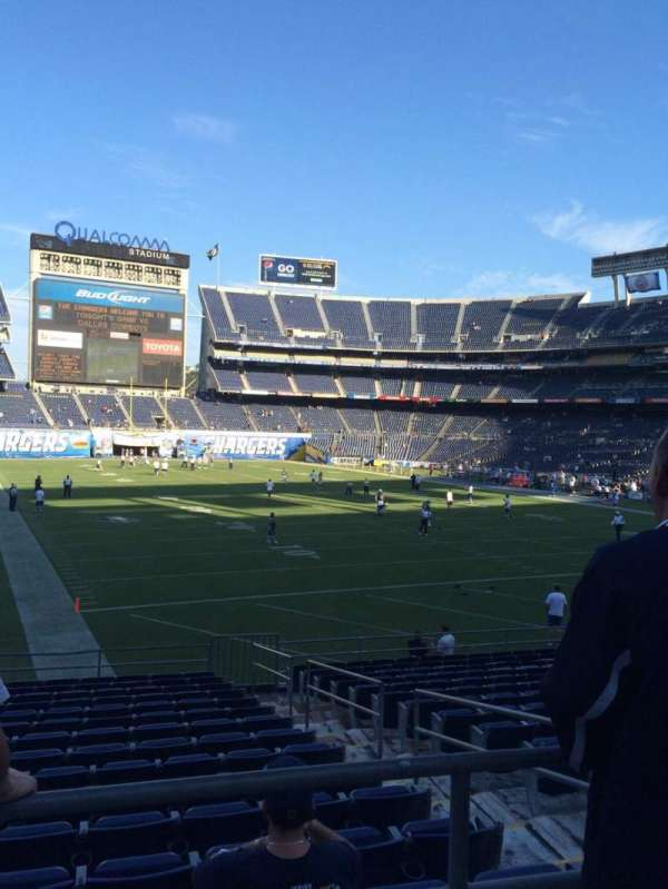 San Diego Stadium, secção: P18, fila: 1, lugar: 10