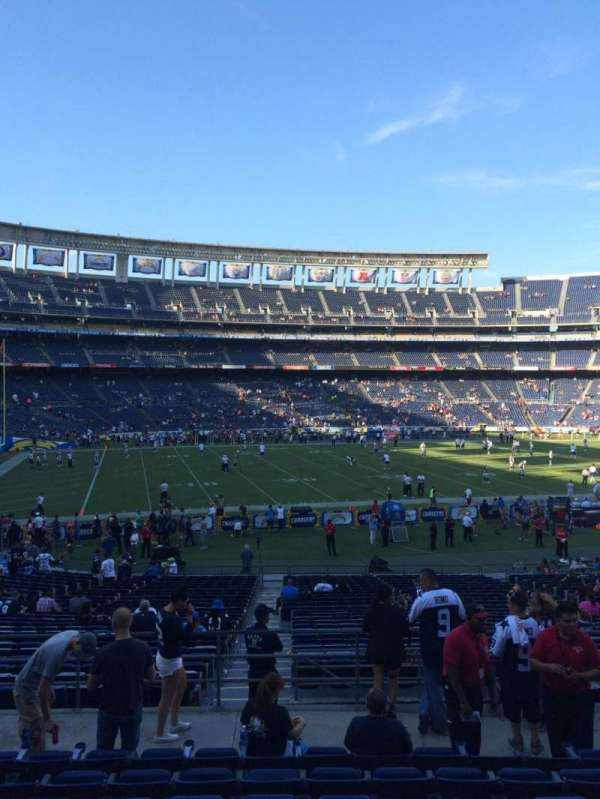 San Diego Stadium, secção: P32, fila: 9, lugar: 12
