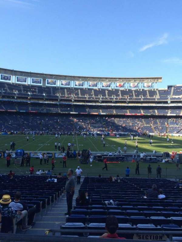 San Diego Stadium, secção: P35, fila: 1, lugar: 8