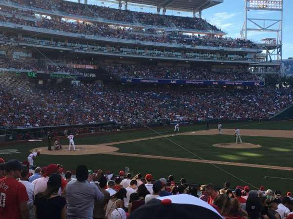 Nationals Park, secção: 130, fila: Y, lugar: 12