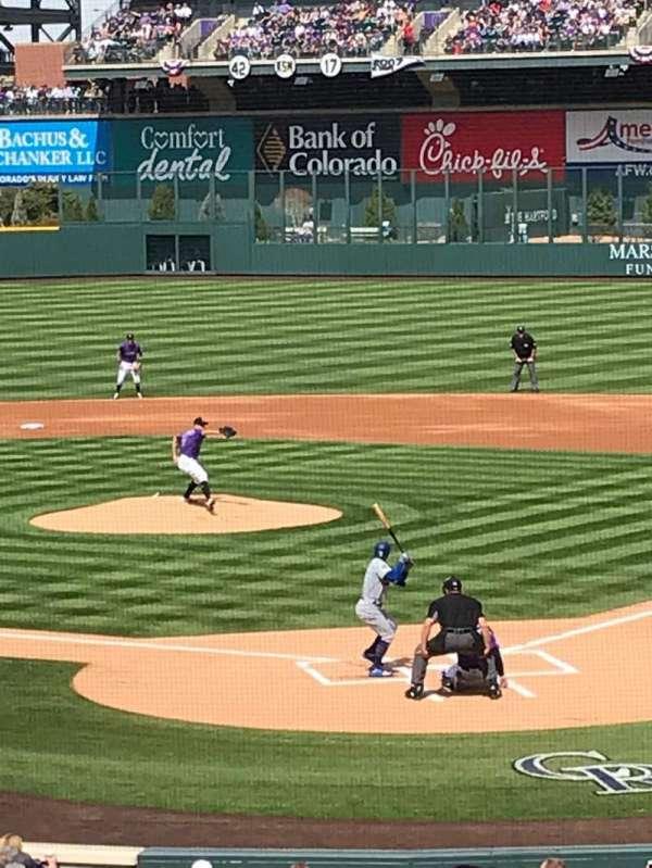 Coors Field, secção: 132, fila: 27, lugar: 8